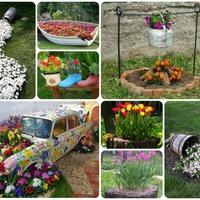 Идеи для оформления садовой клумбы