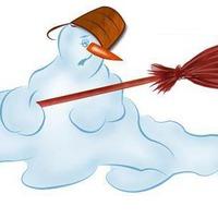 Знойная баба - снегурочка на пенсии.