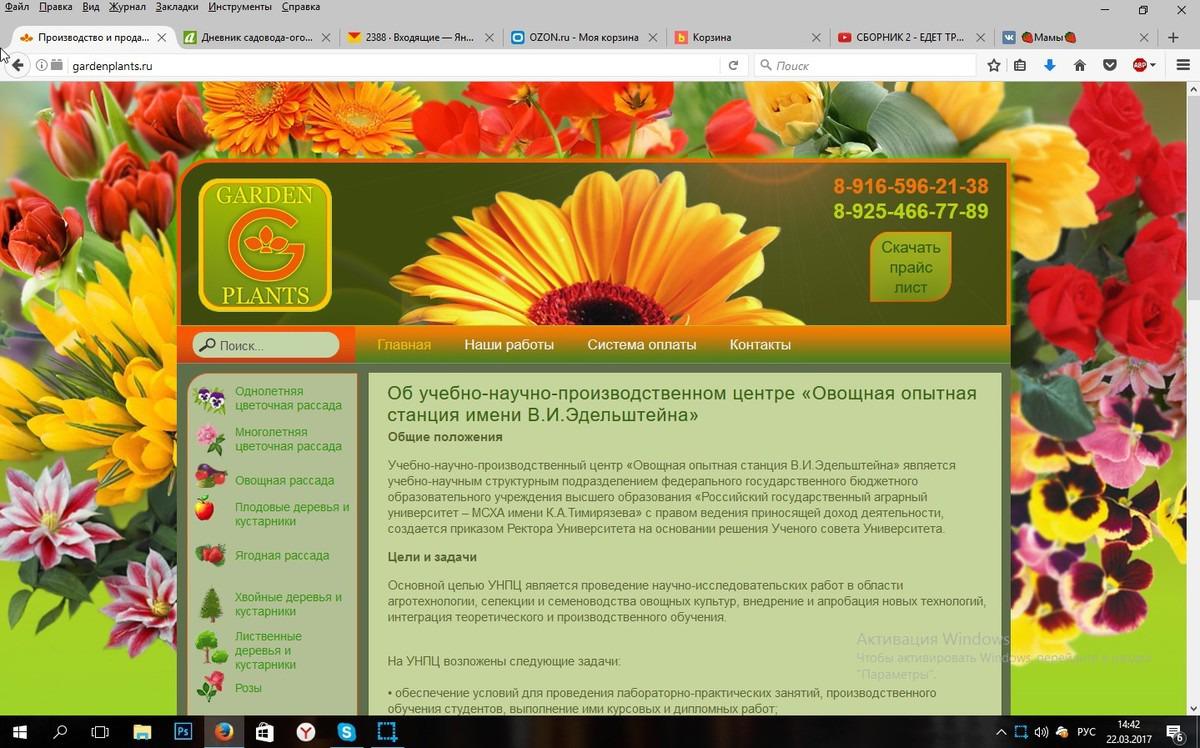 Гарденплантс Интернет Магазин Растений Каталог