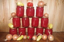Заправка со свеклой на зиму для борща и других блюд.