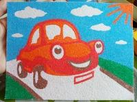 Картина из песка - развиваем мелкую моторику у детей