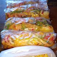 Пару заготовок (заморозка) из овощей и зелени.