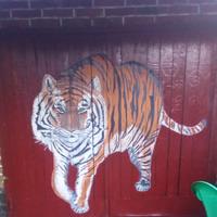 Мурал Тигр на гаражные ворота