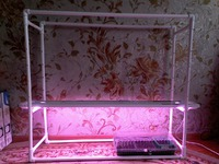 Стеллаж-светильник для рассады на подоконник и не только своими руками
