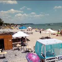 Пляж и море в Урзуфе 2019 Азовское море Украина.