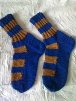 Практичный и экономный способ вязания носков.