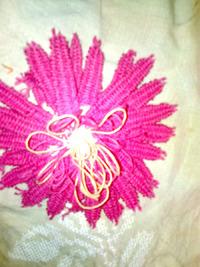 Вышивка цветок