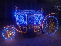 Новогодняя площадь Мира в Краматорске, Украина