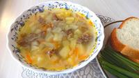 Рецепт быстрого супа из тушенки с зеленым горошком