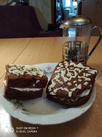 Шоколадный кекс ко дню 8 марта из серии «Мои простые рецепты»